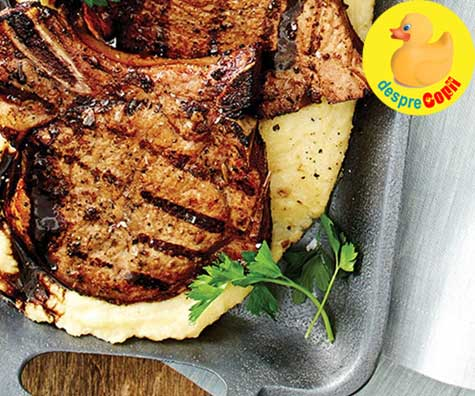 Cotlet de porc in stil italian, la grill