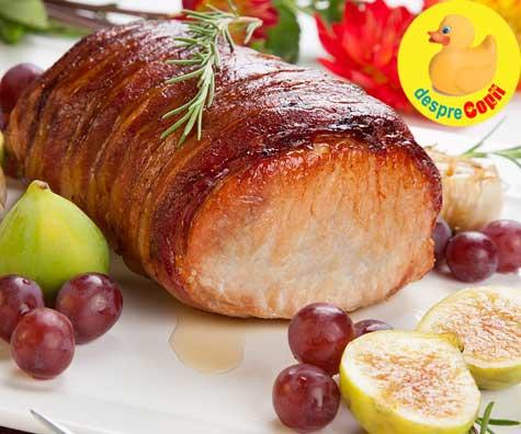 Muschiulet de porc cu bacon si sirop de artar