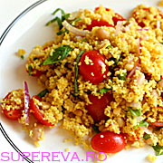 Salata de couscous cu omleta