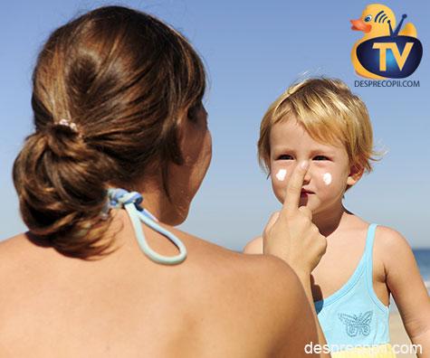 Cremele de protectie solara pentru copii