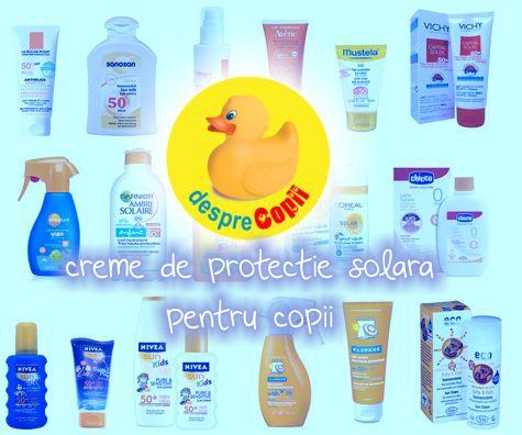 Creme de protectie solara pentru copii recomandate de mamicile Desprecopii