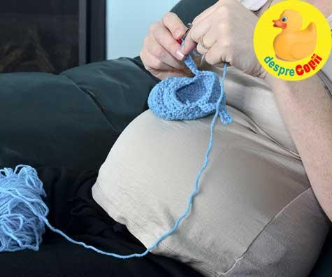 Lucruri handmade pentru venirea bebelusului - jurnal de sarcina