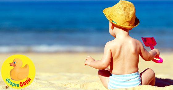 Este bine sa mergem la mare cu un bebelus?