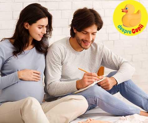Cum am ales numele bebelusului nostru - jurnal de sarcina