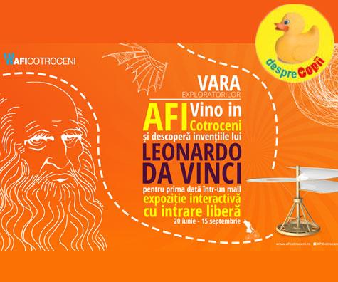 Copiii invata in mod interactiv despre Leonardo da Vinci