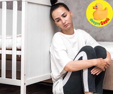 Depresia post-partum este reala - jurnal de mamica