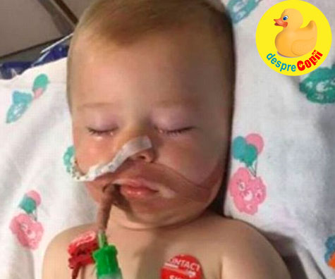 Bebe a ajuns in coma la spital dupa ce a mușcat dintr-o capsulă de detergent lichid - avertisment pentru parinti