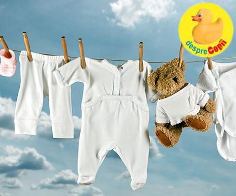 De ce sa spalam hainutele bebelusului cu detergent special?