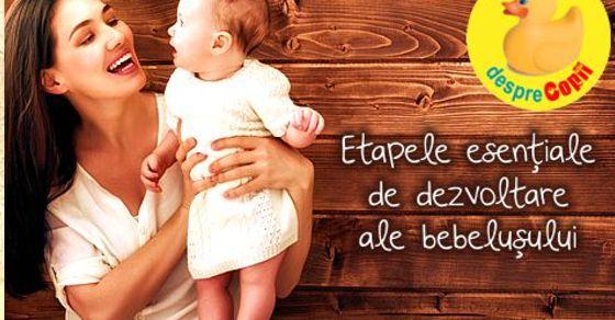 Dezvoltarea bebelusului: cele trei etape esentiale in primii doi ani de viata
