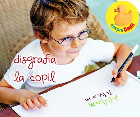 Disgrafia la copil