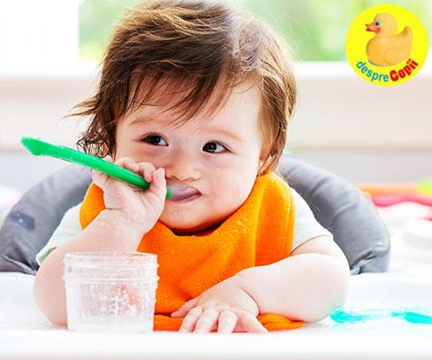 Ce mananca bebelusul la 8 luni?
