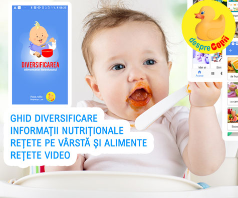 Diversificarea alimentatiei bebelusului: aplicatie utila mamicilor de bebelusi