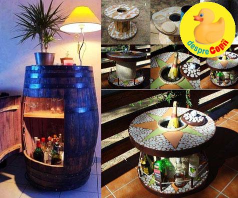 Un bar acasa: 21 de idei simple si de efect pentru o organiza un loc de socializare a familiei