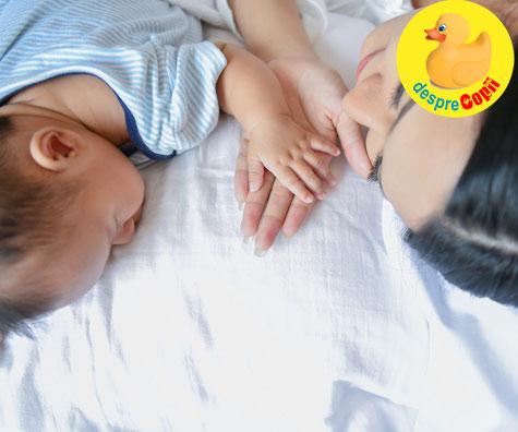 Riscurile dormitului cu bebelusul in acelasi pat