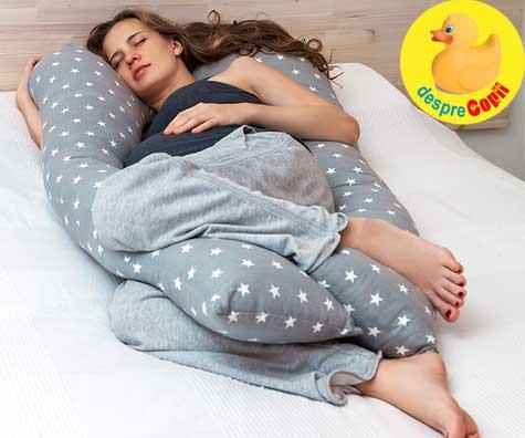 Despre dormitul in ultimul trimestru de sarcina - jurnal de sarcina