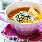 Supa de dovleac cu Pecorino