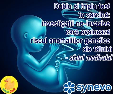 Dublu si triplu test in sarcina: investigatii ne-invazive care evalueaza riscul anomaliilor genetice ale fatului  - sfatul medicului (VIDEO)