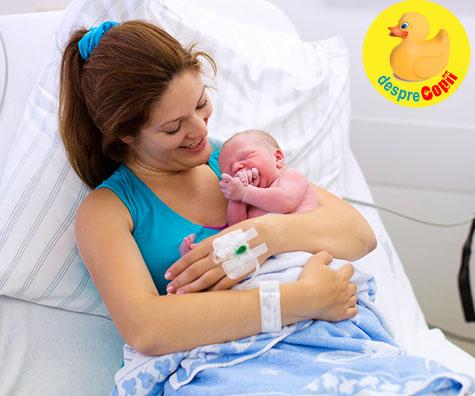 Primele intrevederi cu bebe dupa o nastere traumatizanta - povestea nasterii puiului meu