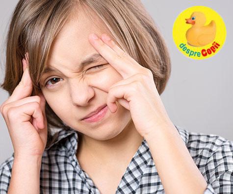 Ce cred părinții despre durerile de cap ale copiilor și care pot fi cauzele?