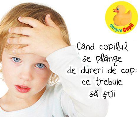 Cand copilul se plange de dureri de cap: ce trebuie sa stii