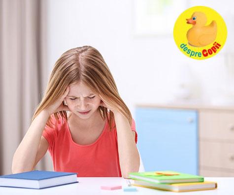 Prima lună de școală, stres și dureri de cap