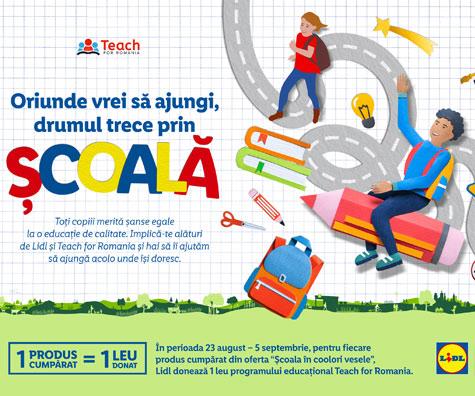 Cu ajutorul clientilor sai, Lidl Romania continua sa investeasca in educatie