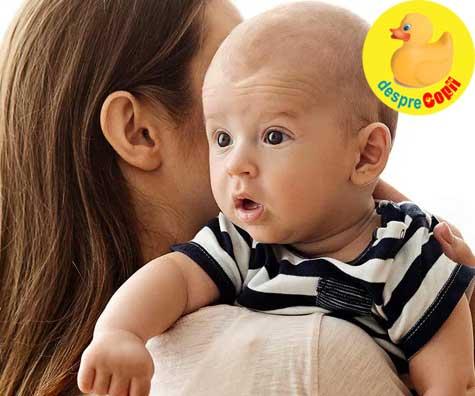 Eructatia bebelusului: 3 pozitii prin care bebelusul elimina gazele care il pot face agitat