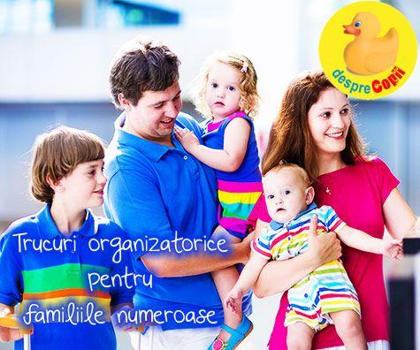 Trucuri organizatorice pentru familiile numeroase
