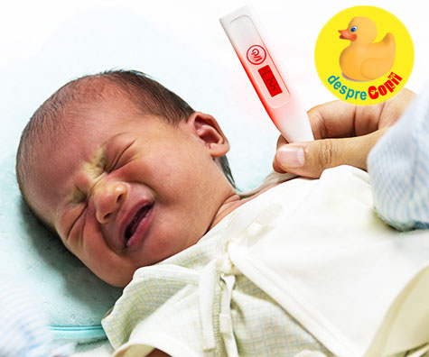 Prima febra a bebelusului: cum o tratam