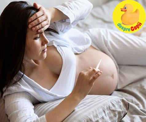 Febra in sarcina poate afecta sanatatea bebelusului - iata ce trebuie sa stii