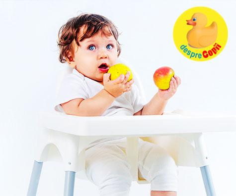 Introducerea fructelor in alimentatia bebelusului: ghid pe luni