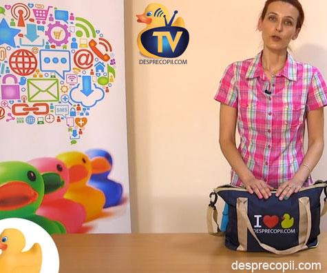 Ce are o mamica in geanta de scutece (geanta bebelusului)?