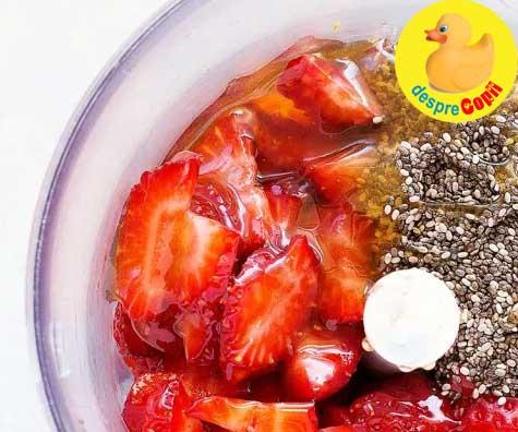 Gustarica nutritiva de capsuni cu seminte de chia - reteta pentru bebelusi