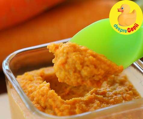 Hummus cu morcovi - reteta pentru copilasi
