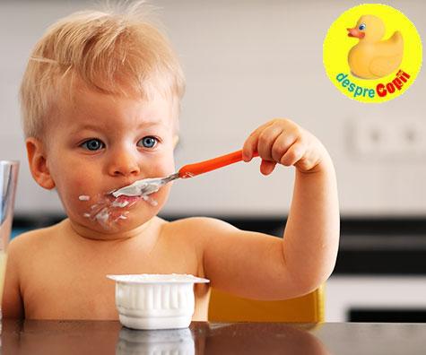 Cand putem introduce iaurt in alimentatia bebelusului?