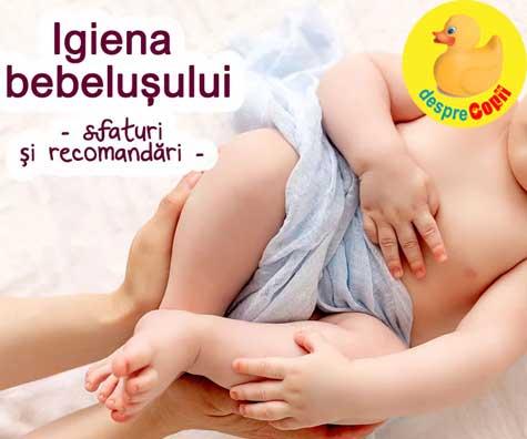 Igiena si ingrijirea bebelusului - iritatii, scutece, eczema, buric si alte aspecte