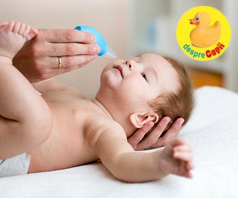Cum si de ce se curata nasul unui bebelus - in 10 pasi simpli
