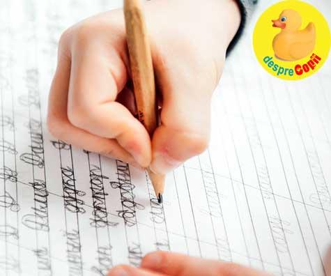 Scrisul de mana ajuta copiii sa retina mai multa informatie