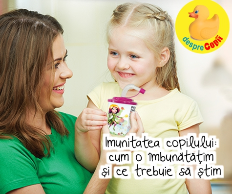 Imunitatea copilului: cum o imbunatatim si ce trebuie sa stim