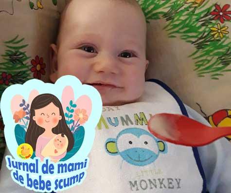 Oficial am inceput diversificarea si am trecut cu bine prima zi -  jurnal de mami de bebe scump
