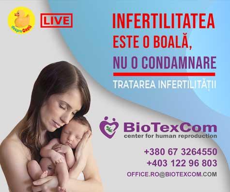 Infertilitatea este o boala, nu o condamnare - emisiune cu specialisti de la BIOTEXCOM