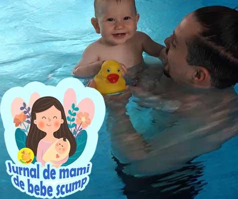 Am inceput cursurile de Aqua Baby la Perfect Swim iar Matei este super incantat - jurnal de mami de bebe scump