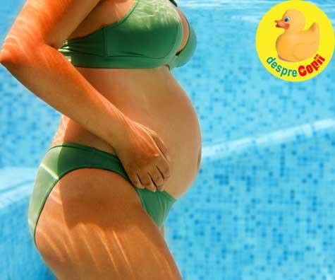 Cursuri de inot pe vreme de COVID - jurnal de sarcina