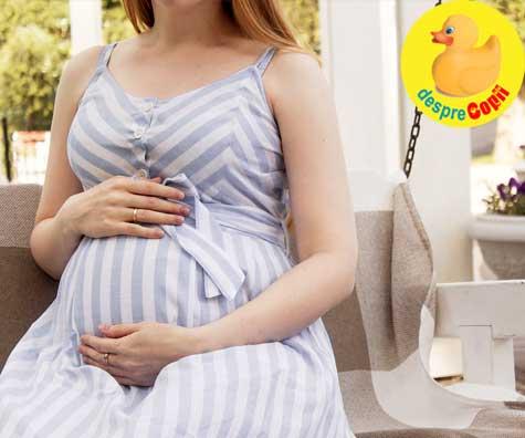 Caldura mare pentru burtica  - jurnal de sarcina