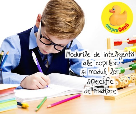 Tipurile de inteligenta ale copiilor si modul lor specific de invatare