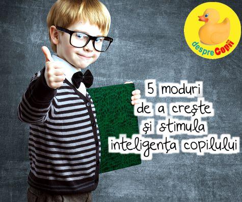 5 moduri de a creste si stimula inteligenta copilului