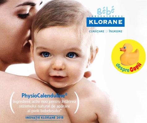 Klorane Bebe cu PhysioCalenduline® - cea mai buna protectie dupa cea a mamei