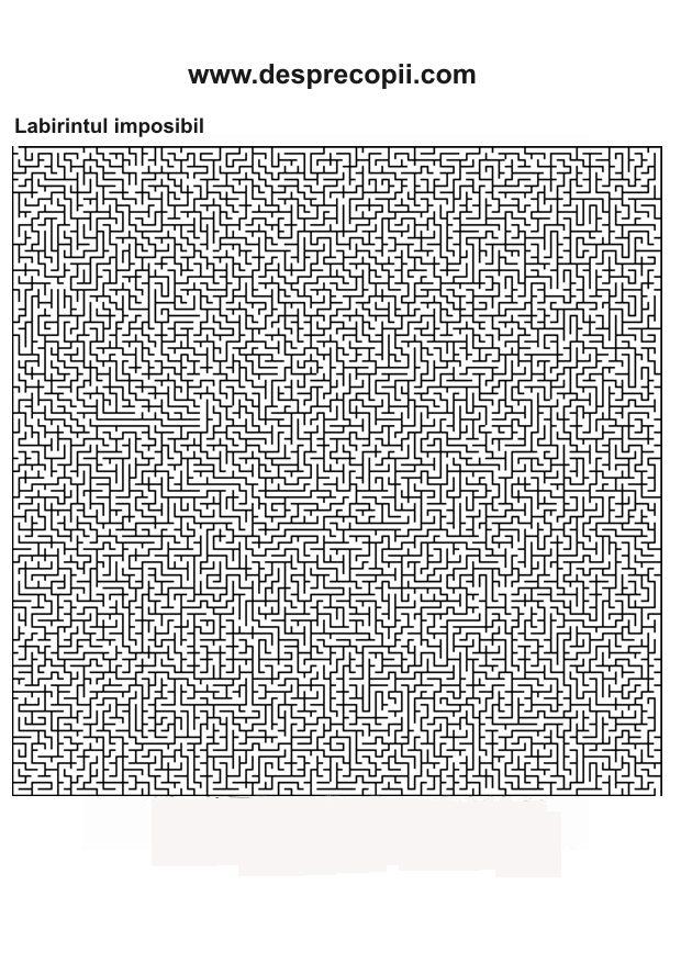 Planse De Colorat Labirintul Imposibil Desprecopiicom