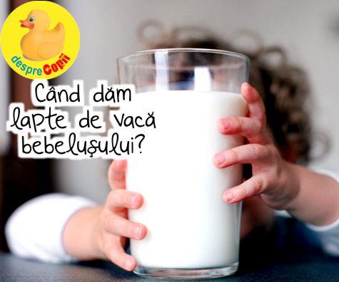 Cand dam lapte de vaca bebelusului?