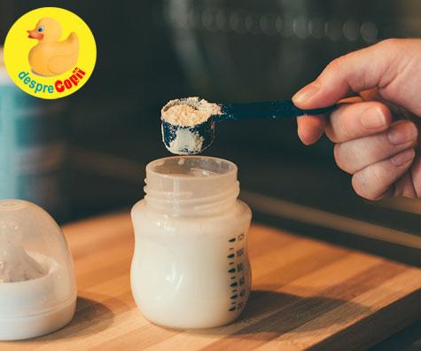 Suplimentarea cu lapte formula il va ajuta pe bebe sa doarma mai bine?
